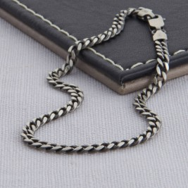 Sterling Silver Mens Curb Chain Necklace