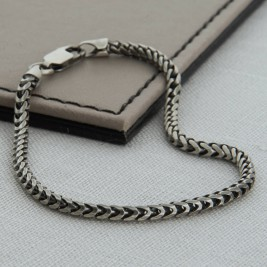 Sterling Silver Mens Snake Chain Necklace