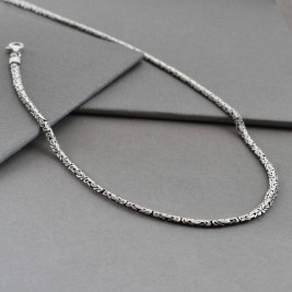 Sterling Silver Oval Borobudur Necklace
