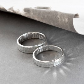 Sterling Silver Secret Message Ring