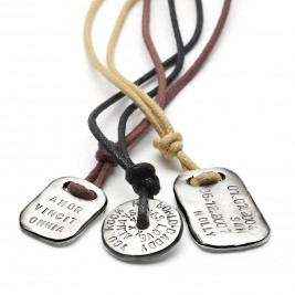 Mens Personalised Tablet Necklace