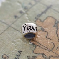 Travel Safe Solid Silver Mojo Charm