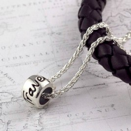'Travel Safe' Solid Silver Mojo Charm Necklace