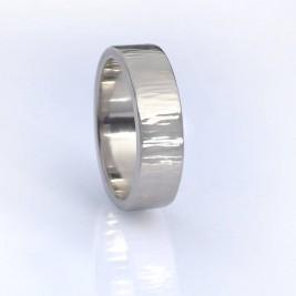 Tree Bark Textured Ring, 18ct Gold