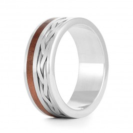 Wood Ring Weave Three