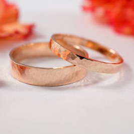 Wedding Bands In 9ct Rose Gold