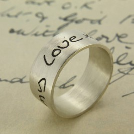 Your Own Handwriting Personalised Ring