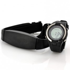 Heart Rate Monitor Watch w/ Chest Belt
