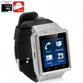ZGPAX S6 Android 3G Watch Phone (Silver)