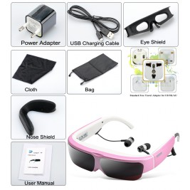 Android 2D/3D Virtual Video Glasses (Red)