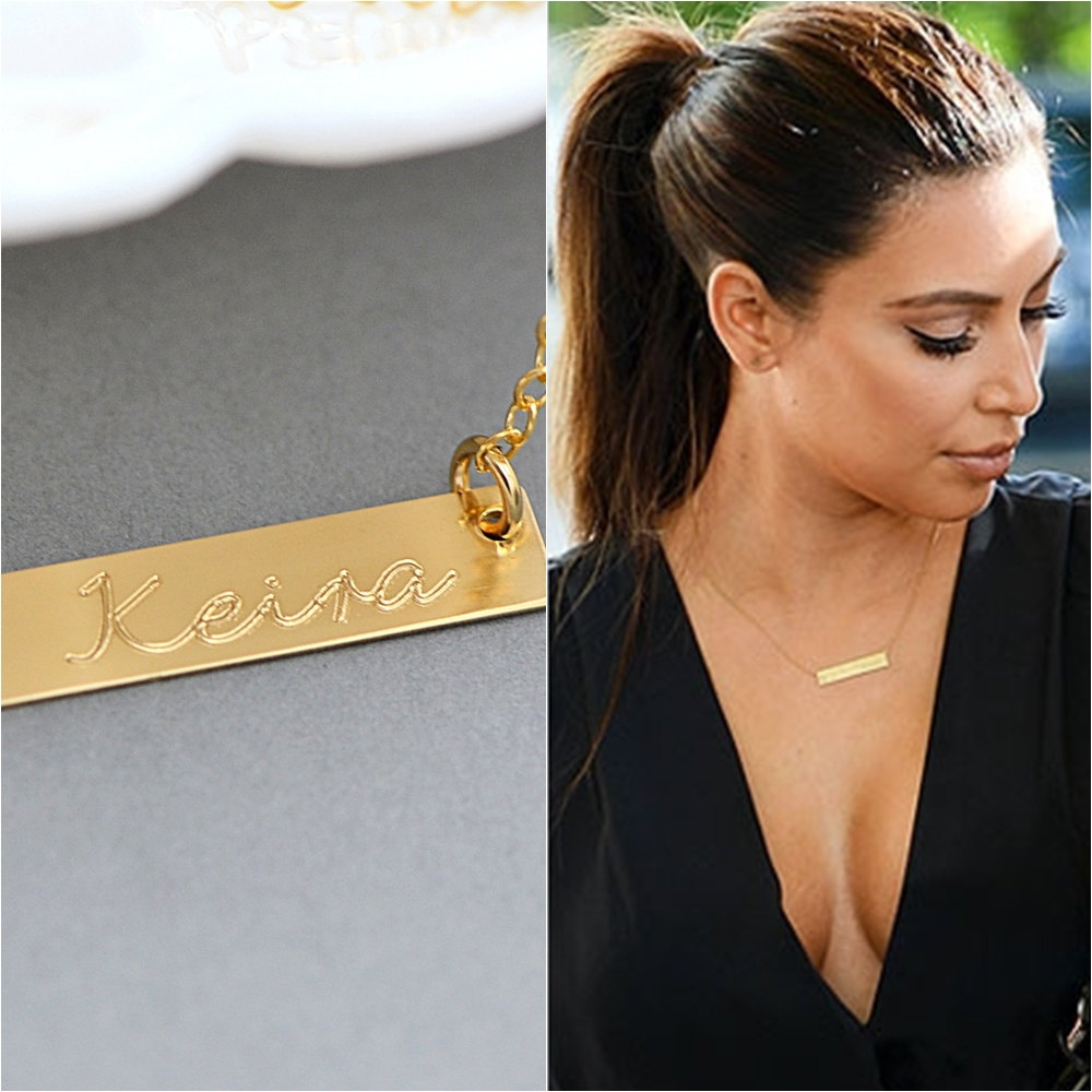 Buy name plate necklaces gold online nameplate necklaces aloadofball Images