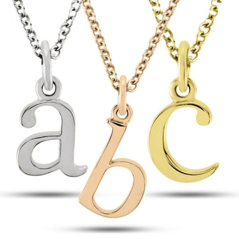 pendant alphabet necklace letter chain women cute heart itm charm initial